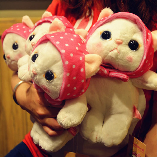 Плюшевая игрушка Японский розовый кот 1