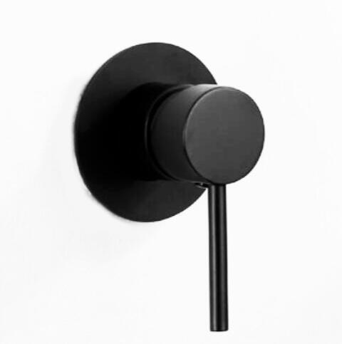 Robinet de douche rond de couleur noire mate robinet de douche en laiton massif ou contrôle de bidet vanne de mélangeur chaude et froide fixée au mur IS66