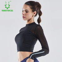 Long Sleeves Professional Shirt Fitness Clothes Women Autumn Winter Quick Dry Clothes Slim Compression Tight