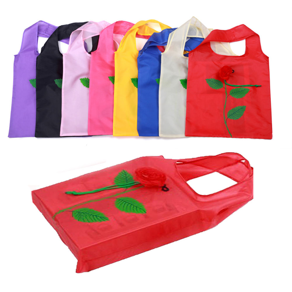 Hot Multi-color Rose Flower Reusable Shopping Bags Eco Bags Foldable Shopping Travel Grocery Bag Travel Bags with Food sukioto no error 55w canbus hid xenon kit 9012 hir2 bulbs for gl8 regal envision verano headlight 9012 bixenon projector lens