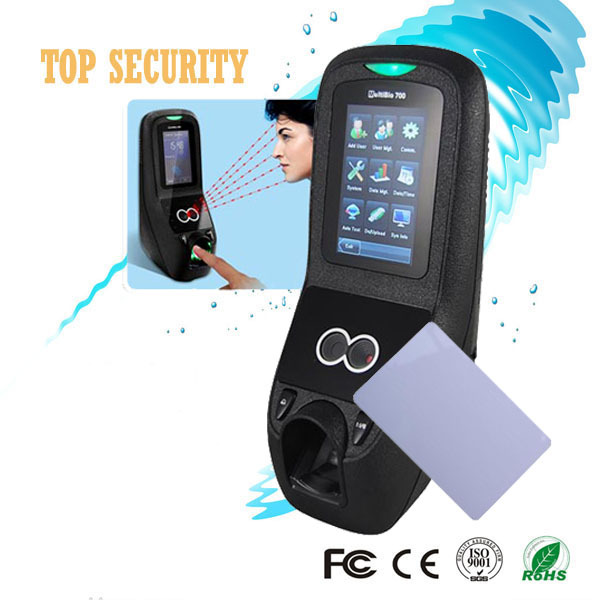 Multibio700 biometric face and fingerprint access control door control system linux system with MF card reader with TCP/IP