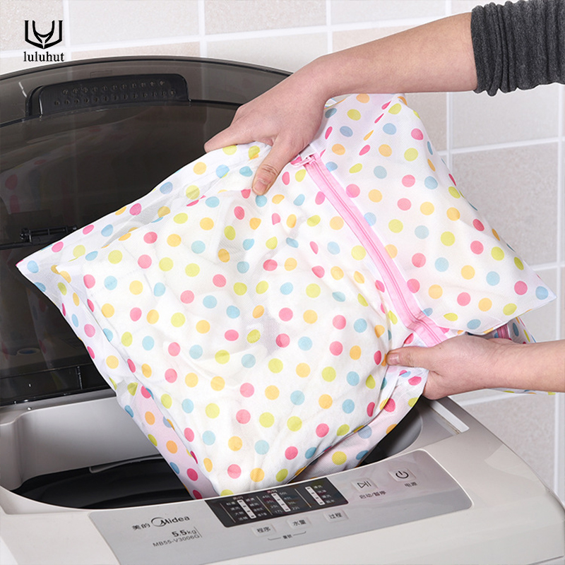 Luluhut Mesh Laundry Bag Convenient Clothes Bra Lingerie Bag Folding Laundry Bags For Washing Machines Home Use Laundry Basket