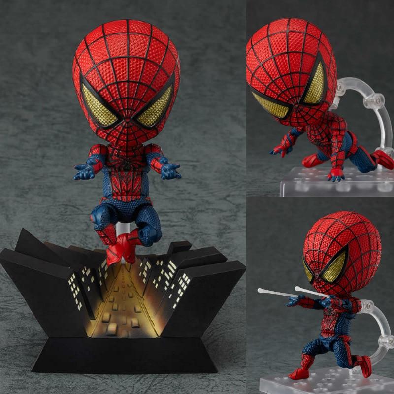 The Avengers 10cm amazing spider man super hero Superman Spiderman Batman Q edition doll Christmas gift set clay model пластилин spider man 10 цв