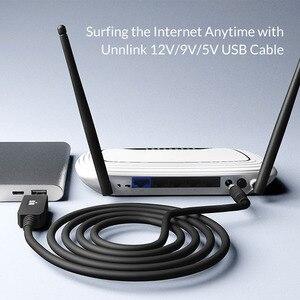 Image 5 - Unnlink Cable de alimentación de barril USB para ventilador de enrutador, USB a DC de voltaje de 5,5x2,1mm, 3,5x1,35mm, 5V, 9V, 12V, 0,8 1A