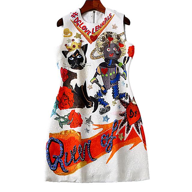 Straight Above Knee Geometric Print Dress