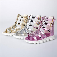 2017 Summer Girl Flat Shoes Fashion Girl Scandals Boot Princess Chaussure Enfant Fille Candy Color Girl