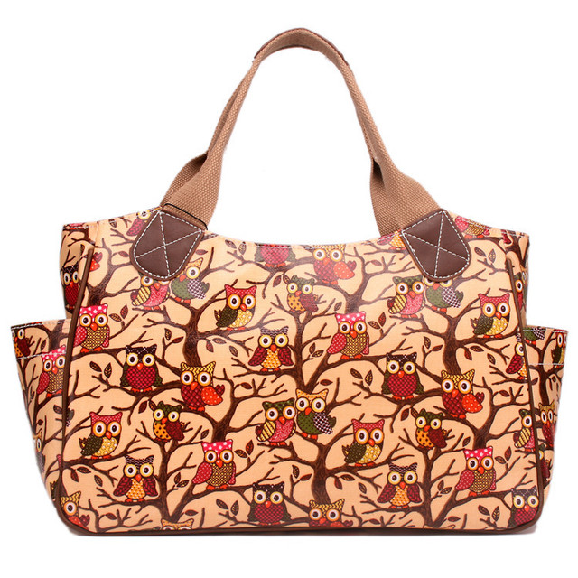 New fashion  women handbag party handbag matching colour bag owl handbags totes famous brand bag oilcloth material
