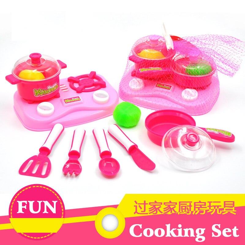 Kitchen DIY Play Set Vegetable Fruit Cutting Games Food Children Kids Pretend Toys Xmas Gift