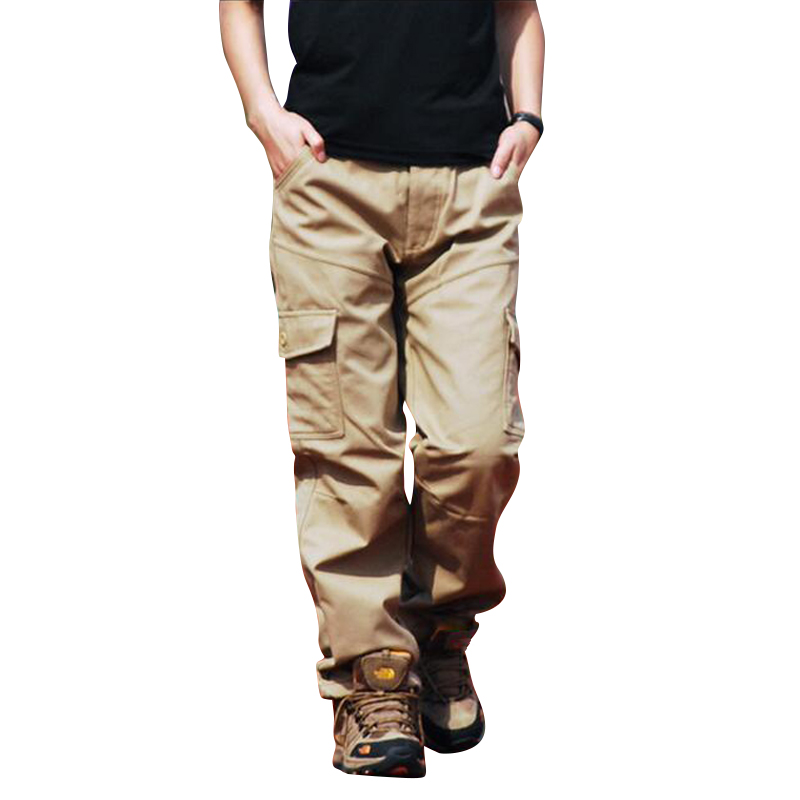 New Winter Europe Style Men Fashion Cotton Pants Hiagh Quality Thicker&Warm Cargo Pants Male Casual Fit Slim Pants More Color