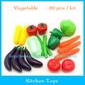 20 pçs/lote plástico alimentos simulação de frutas legumes cozinha toys preschool crianças infantis do bebê cozinha de brinquedo para crianças