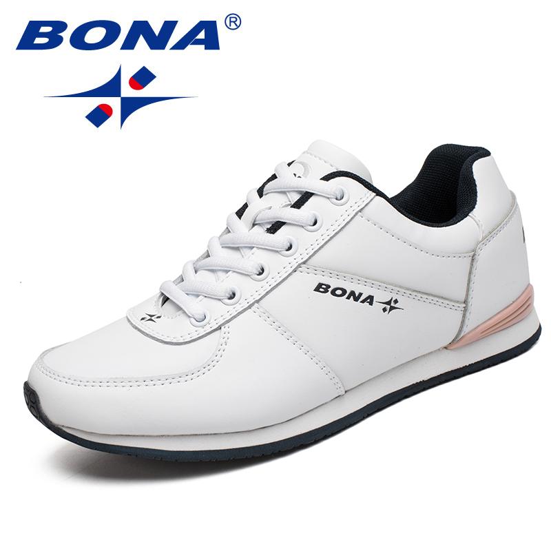 BONA New Classics Style Women Running Shoes Lace Up Women Athletic Shoes Outdoor Jogging Sneakers Comfortable Fast Free Shipping peak sport men outdoor bas basketball shoes medium cut breathable comfortable revolve tech sneakers athletic training boots