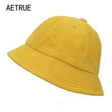 AETRUE mujeres del cubo sombreros hombres en blanco Bob gorras Panamá triste  sólido plana sombreros para las mujeres Snapback al. ed501c1895b
