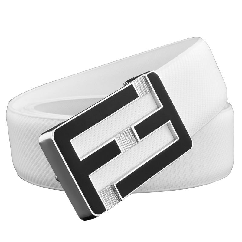 High Quality F leather   belts   men genuine leather designer Waist Strap fashion off black letterCowskin Waistband fashion leisure