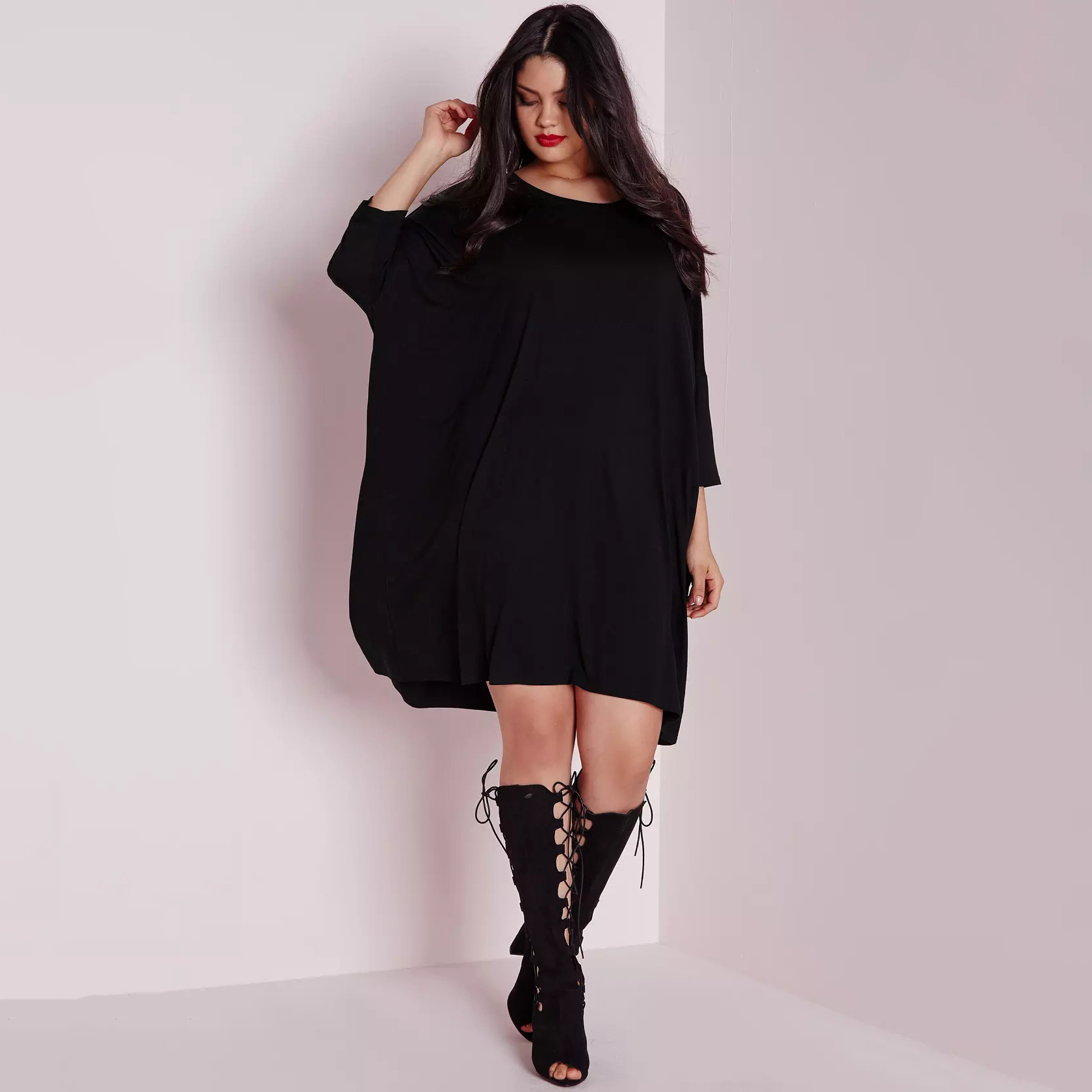 4dce323ff1f MCO Casual Oversized Batwing Plus Size Womens Dress Ultimate Easy Tunic  Dresses Fashion Big Size Slouchy Women Clothing 6XL 7XL-in Dresses from  Women s ...