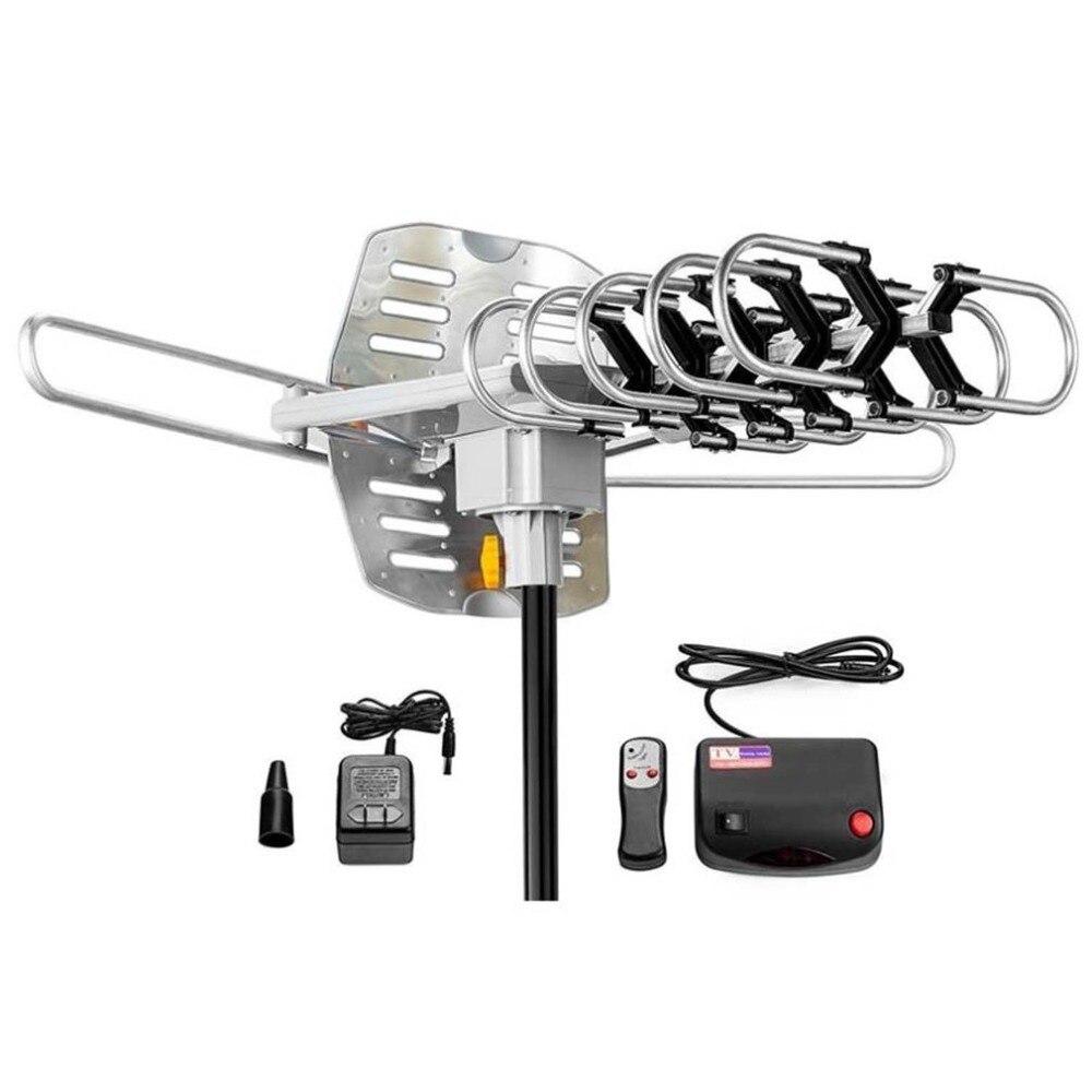 150 Miglia di Antenna TV Esterna Motorizzato Dispositivo Amplificato Ad Alto Guadagno 36dB UHF VHF HDTV Antenna Universale TV Accessori luglio 6