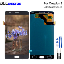AMOLED For Oneplus 3 Three A3000 A3003 LCD Display Touch Screen Digitizer Assembly For Oneplus 3T A3010 Screen LCD Display+Tools
