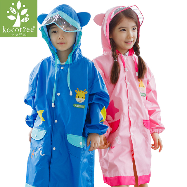Kocotree นักเรียนกระเป๋าเป้สะพายหลัง Raincoat เด็กทารกการ์ตูน Rainproof Rain Coat หญิงและชายกันน้ำ Poncho Rain Cover