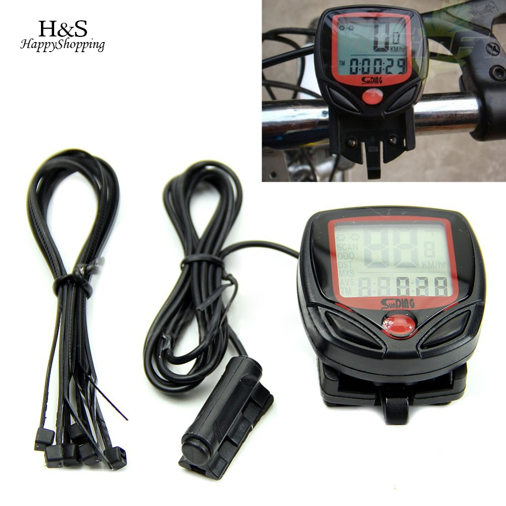 Bicycle Speedometer Cycling Computer Digital LCD Computer Bike Speedometer For Bicycle Waterproof Odometer цены онлайн