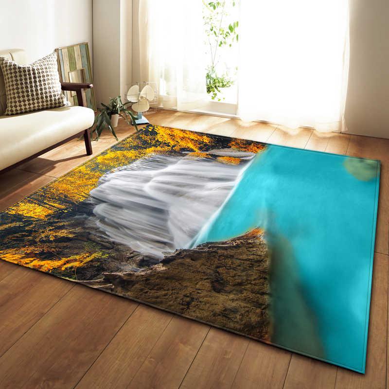 북유럽 카펫 소프트 플란넬 3D 인쇄 영역 러그 Parlor Galaxy Space Mat Rugs 거실 장식용 Anti-slip 대형 러그 카펫
