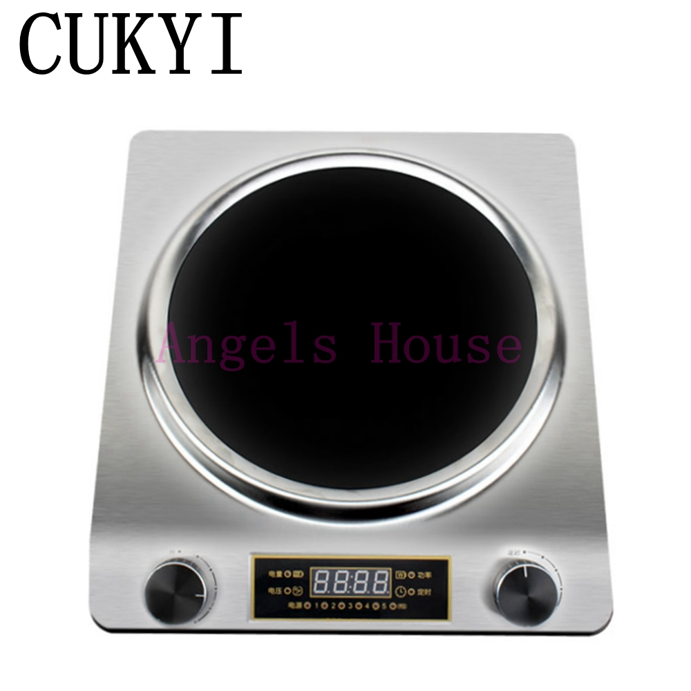 CUKYI Concave electromagnetic oven  Induction Cooker fried high power stove household  commercial 3000W  Hot pot dmwd electric induction cooker waterproof high power button magnetic induction cooker intelligent hot pot stove 110v 220v eu us