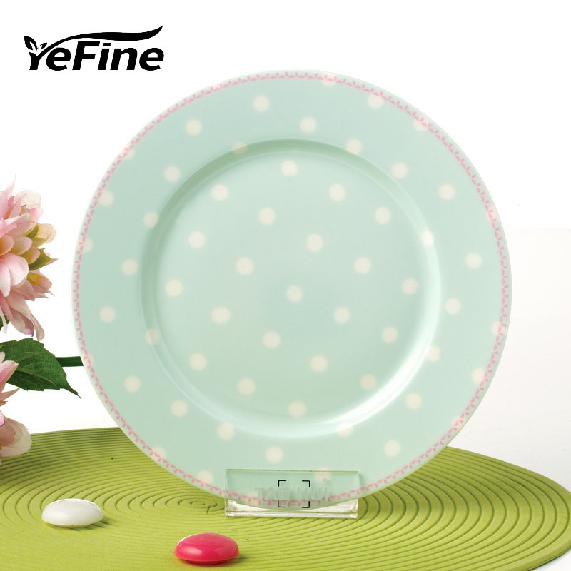 YeFine New Arrial 8 Inch Plates Porcelain Advanced Bone China Tableware Dishes and Plates Set Breakfast Fruit Steak Container