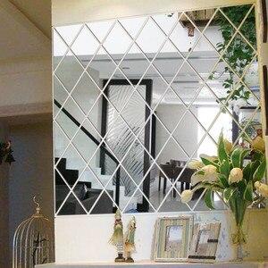 Image 4 - DIY 3D 스티커 거울 스티커 홈 거실 장식 벽 스티커 vinilos decorativos para paredes 입술 스티커 벽