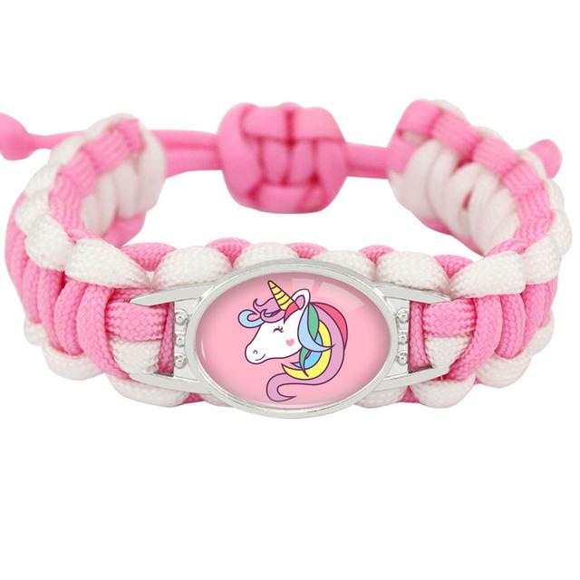 Adjustable Paracord Unicorn Bracelets