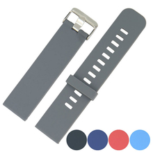 Silicone Watch Strap Diver Watch Band Rubber Wrist Watch Bracelet 18/20/22/24 mm with Stainless Steel Buckle Clasp replacement 18mm stainless steel wrist watch band with fold over clasp with push bottom