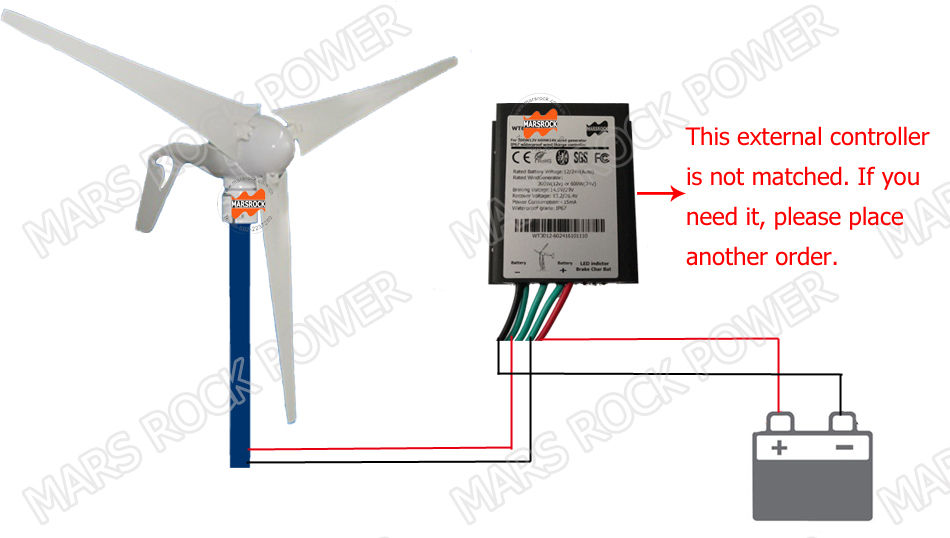 Groovy 12V Or 24Vdc 3 Blades 400W Wind Turbine Generator With Built In Wiring Digital Resources Attrlexorcompassionincorg