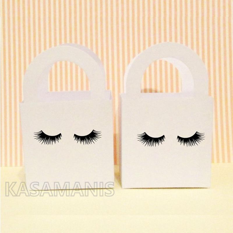 cute eyelashes decal box decoration