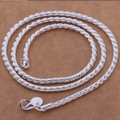 Top Quality Silver 18 Inches 3 MM Chain Necklaces Women Men Jewelry Fashion Nacklace Hotting Wedding Jewellery YNS02