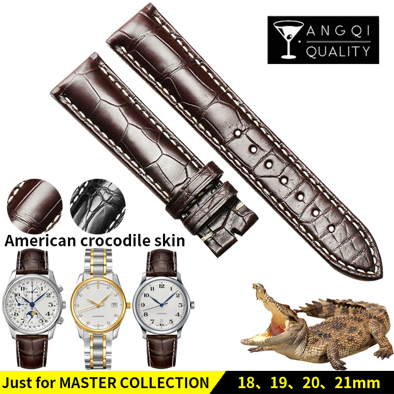13/18/19/20/21MM Genuine American Crocodile Alligator Leather for Longines L2 L4 Master Collection Watchband WatchStrap Bracelet13/18/19/20/21MM Genuine American Crocodile Alligator Leather for Longines L2 L4 Master Collection Watchband WatchStrap Bracelet