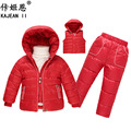 Boy girls ski suit children skiing outfits winter kids ski sets thickened down Jacket vest pant sets child snow suits snowsuits