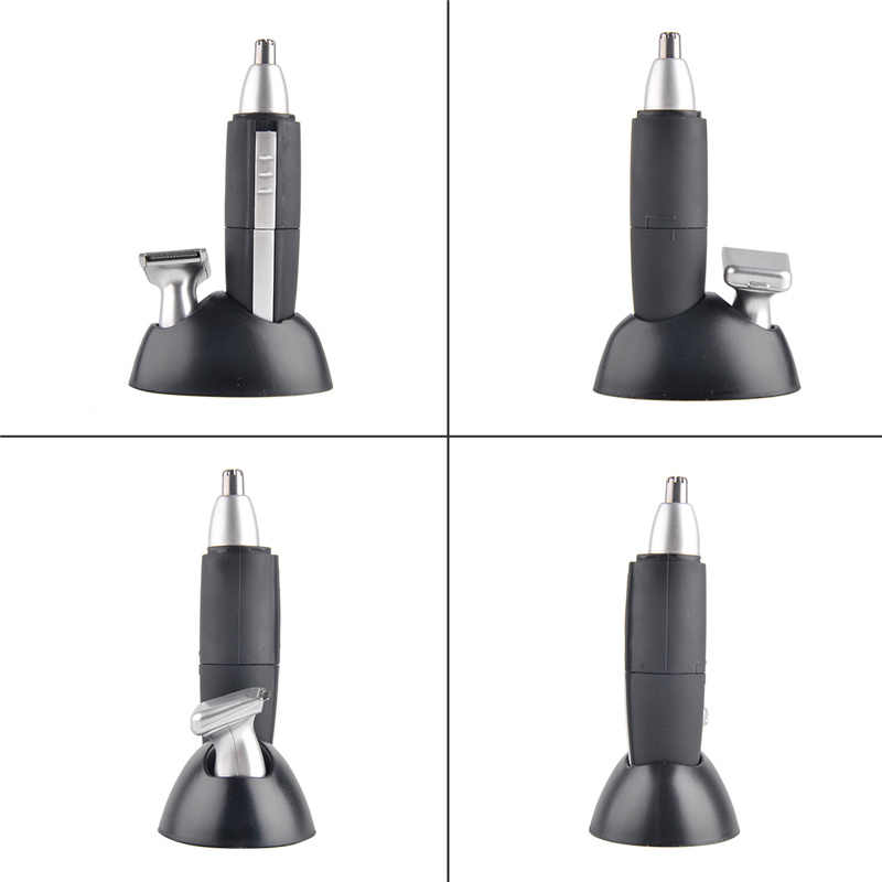 Battery Operated 2 In 1 Electric Shaving Nose & Ear Hair Trimmer Washable Beard Hair Shaver Face Care Device Kemei KM-600