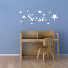 Personalized Name Stars Removable Vinyl Wall Decal for Kids Room Are Carved Bedroom Living Room Decoration