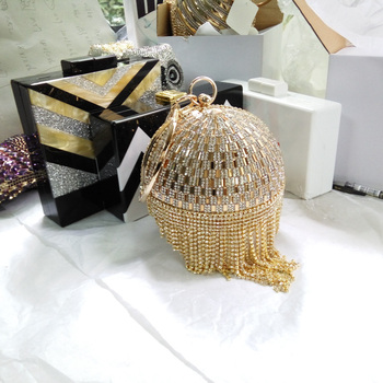 Women Party Metal Crystal Clutches Evening Bags