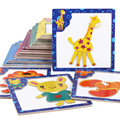 Children Wooden Toys Animal 3D Magnetic Jigsaw Puzzles Kids Cartoon Puzzles Educational and Learning Toys