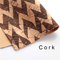 cork fabric Natural Brown with natural Splicing cork leather natural Material Kork 60*88cm/23.6*34.6inch Cor-35