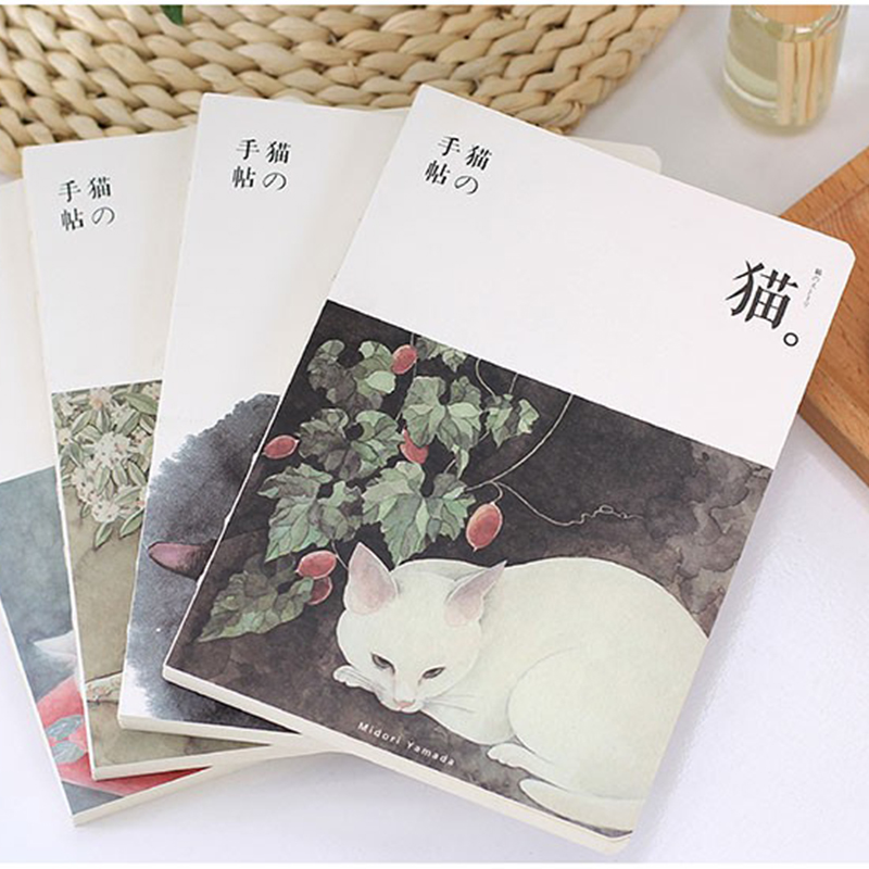HOT Blank Sketchbook Diary Drawing 80 sheet Cute Cat school Notebook paper Sketch Book Stationary products Supplies Gift