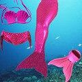 2016 diseño único de la Fábrica de La Venta Directa de Escala Completa Mermaid Tail Nadar traje de Baño Bikini traje de Baño para niñas regalos de Cumpleaños