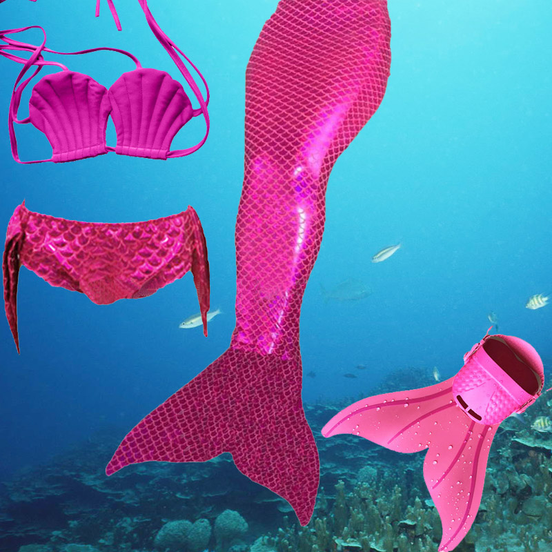 2016 Factory Unique Design Direct Sale Full Scale Mermaid Tail Swimmable Swimsuit For Girls Birthday Gifts