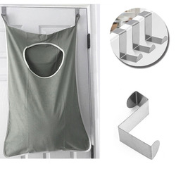 New Design Oxford Large Capacity Clothes Underwear Bathroom Laundry Storage Organizer Behind Door Hang Bag Pouch with Hook