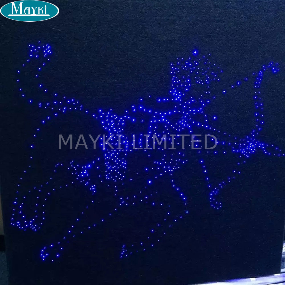 Maykit DC 12 Volt suitable 16W fiber optic led light engine with RGB color changing for indoor ceiling starry star decoration