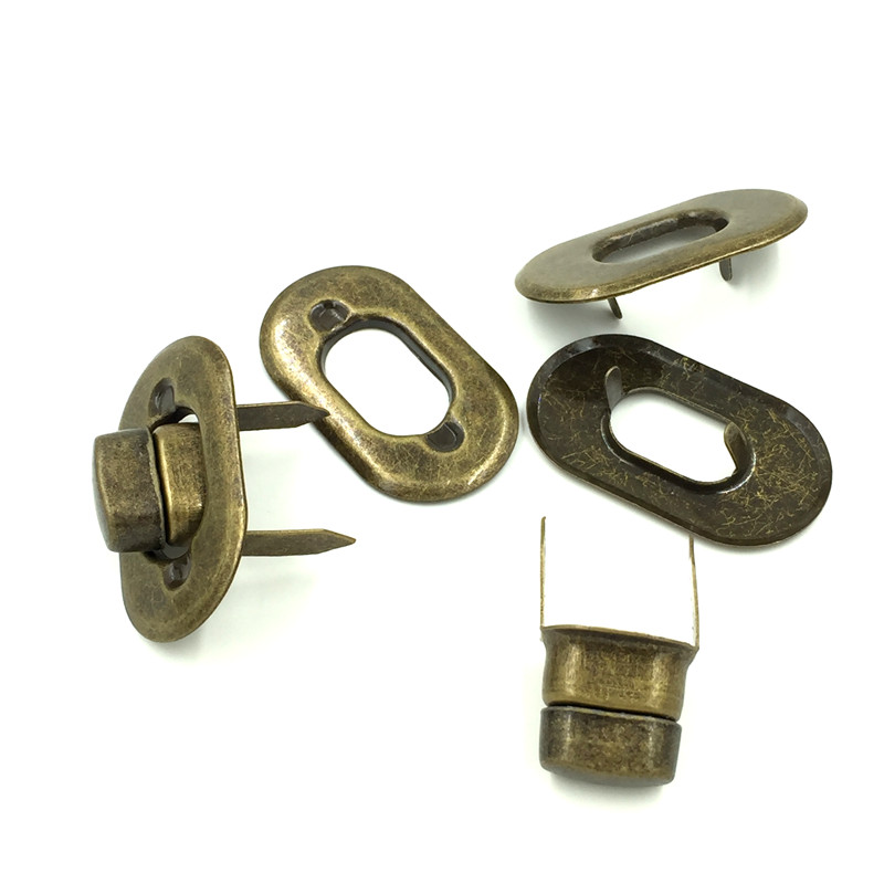 10pcs Antique Bronze Tone Oval Purse Twist Turn Lock Diy Bag Handbag Clasps 37x21mm In Parts Accessories From Luggage Bags On Aliexpress