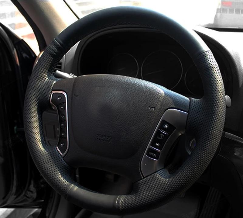 AOSRRUN Car-styling Fundas para volante de coche cosidas a mano para - Accesorios de interior de coche - foto 2