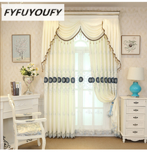 Фотография European Embroidered villa high-end custom Blackout Curtains for Living Room with luxury Voile Curtain for Bedroom Window