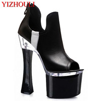 new crazy bride wedding shoes white black available single 18 cm high heels in selling fish mouth