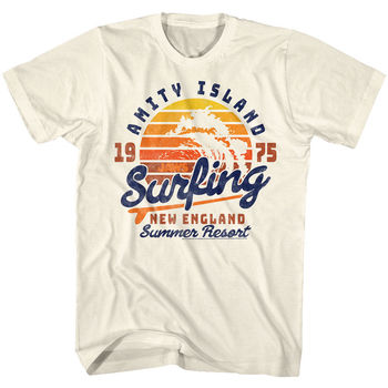 Jaws Amity Surfing Licensed Adult T-Shirt  Cool Casual pride t shirt men Unisex New Fashion tshirt free shipping tops