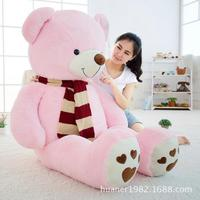 120cm Giant Fat edition teddy bear scarf doll plush toy large hug bear Christmas gift