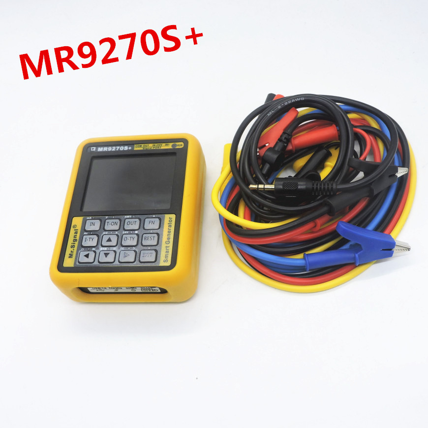 MR9270S+ 4 20mA signal generator calibration Current voltage PT100 thermocouple Pressure transmitter Logger PID frequency Cable Winder     - title=